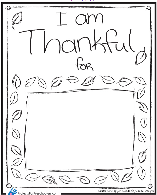 6 Images of I AM Thankful For Placemat Printable