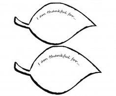 I AM Thankful Leaf Template