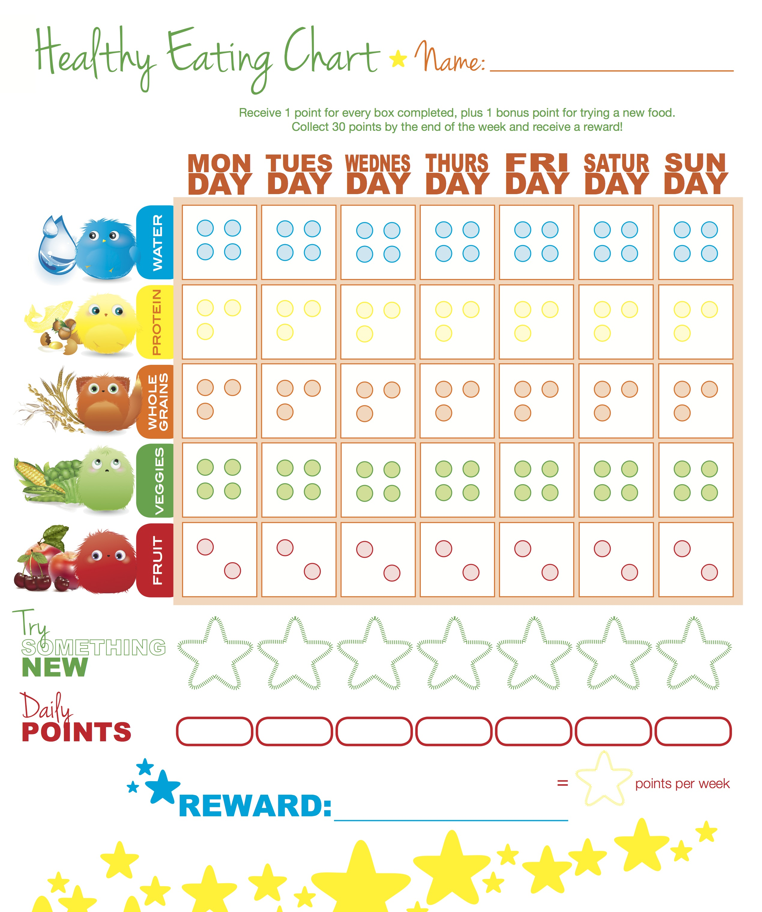6 Images of Printable Chart Food Healthy