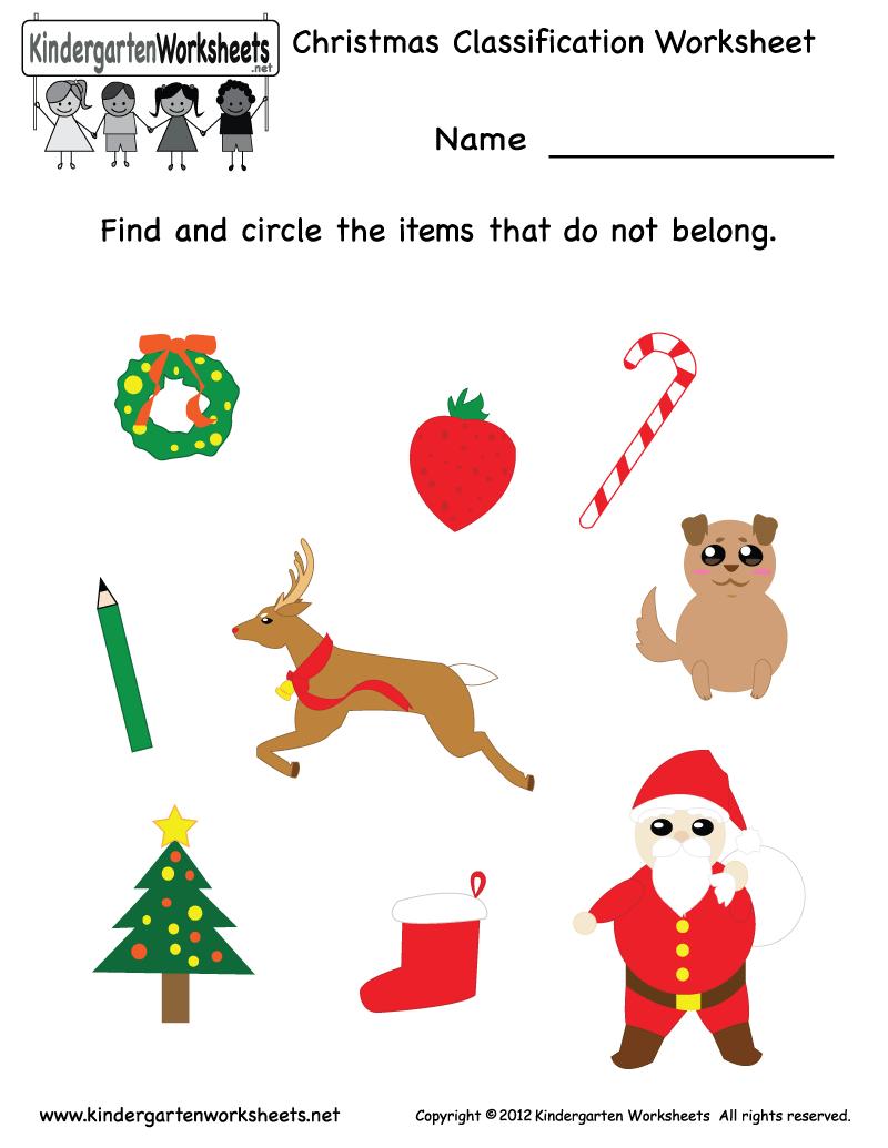 Christmas Worksheets For Kindergarten : Worksheets for christmas free printable worksheet