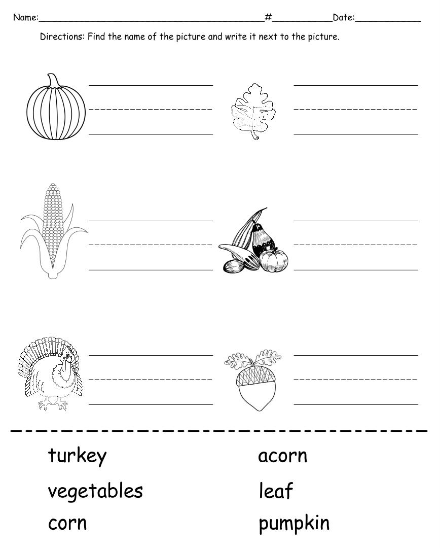 Kindergarten Worksheets Sound Out Words
