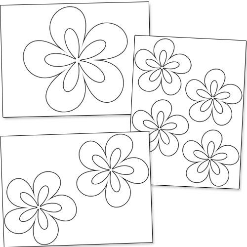 Large Flower Stencils : Best images of flower stencils printable crafts