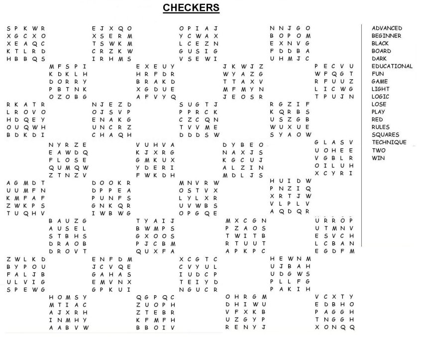 Word Search Puzzles Printable Free Large Print