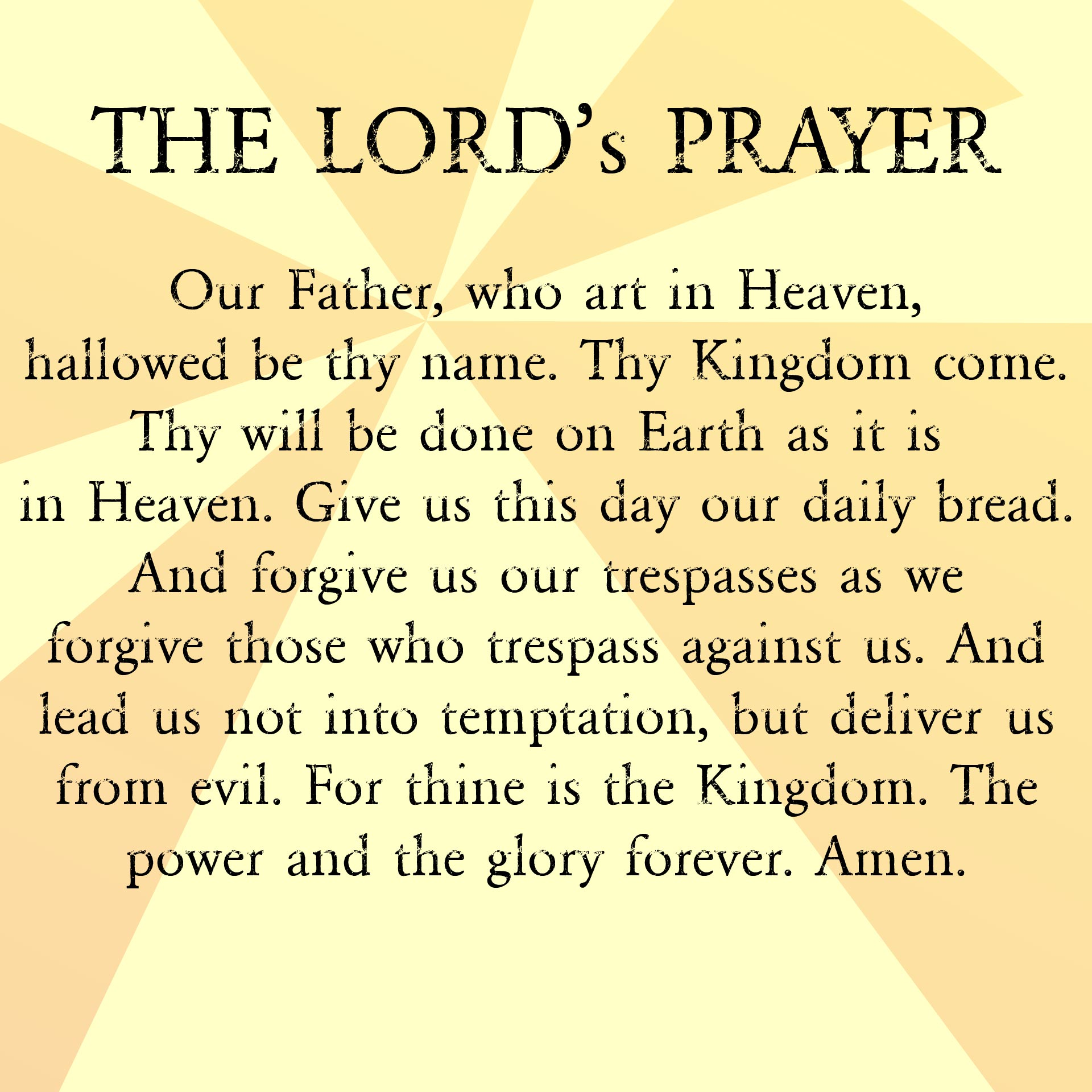 8 Images of The Lord Prayer Printable