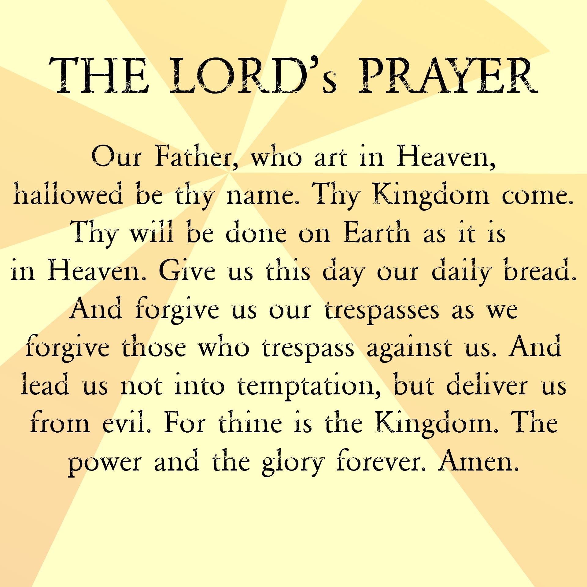 Lord S Prayer to Print Printable