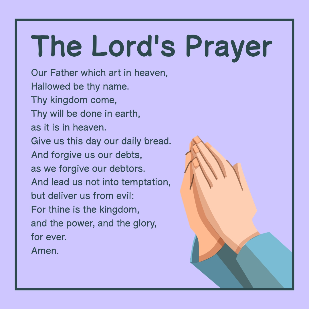 Ridiculous image intended for printable lords prayer