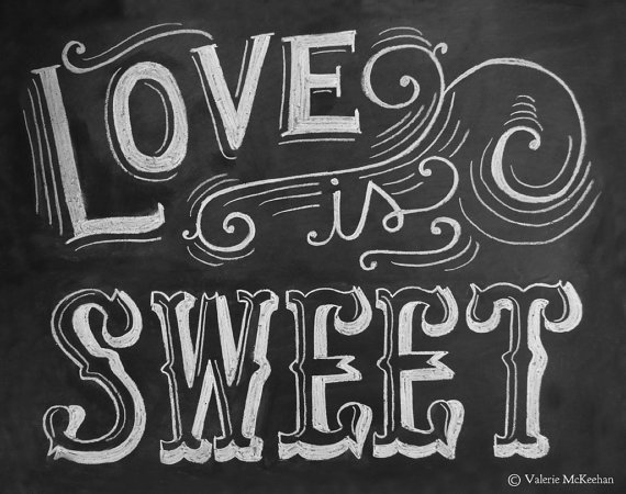6 Images of Printable Chalkboard Sign Love