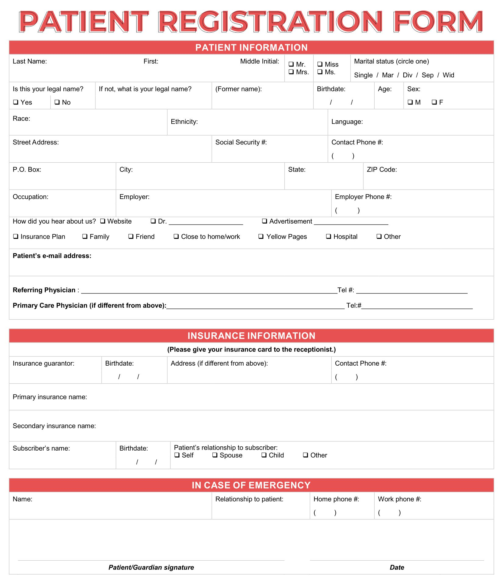 Free Printable Doctor Forms Medical Office FormsFree Printable – Free Printable Doctor Forms