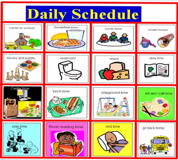 4 Images of Preschool Visual Schedule Printable