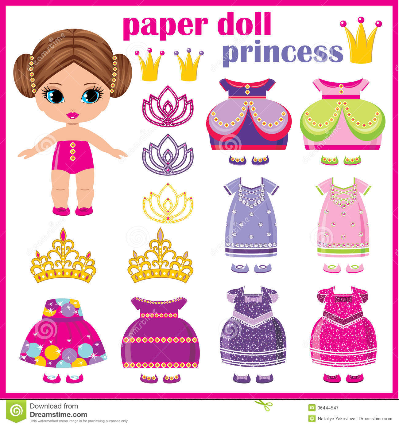 Post_printable Princess Paper Doll Clothes_172403 on Coloring People Cut Outs