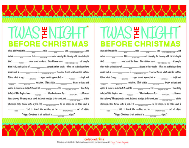 Printable Christmas Games - Free Party Games for Birthday