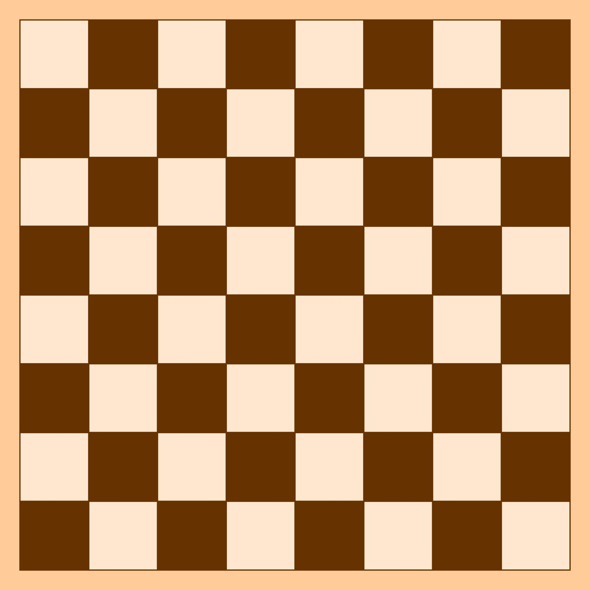 Printable Checkers Board Game Template