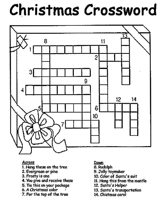 4 Images of Christmas Printable Puzzle Games