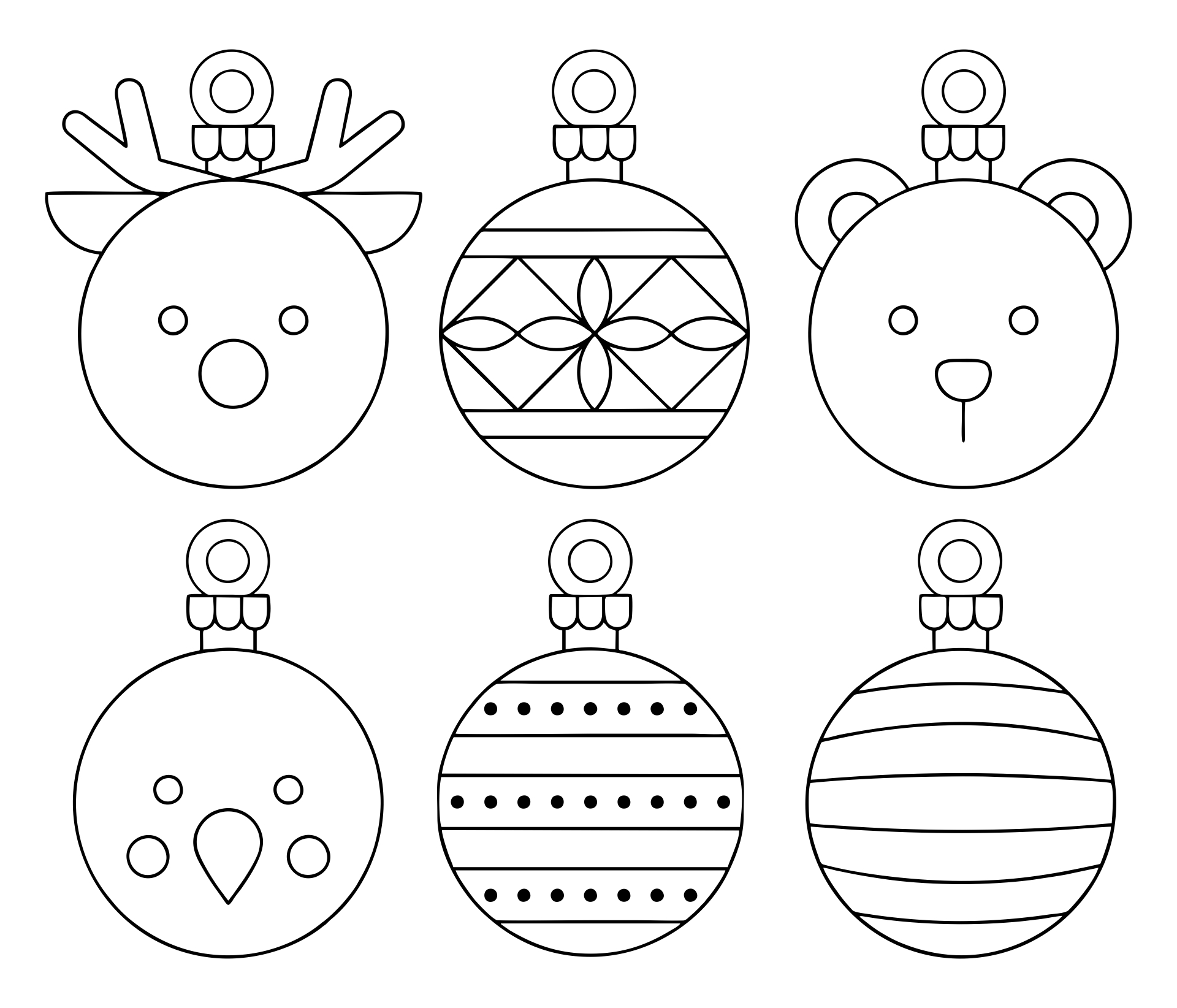 Best images of free printable christmas ornament