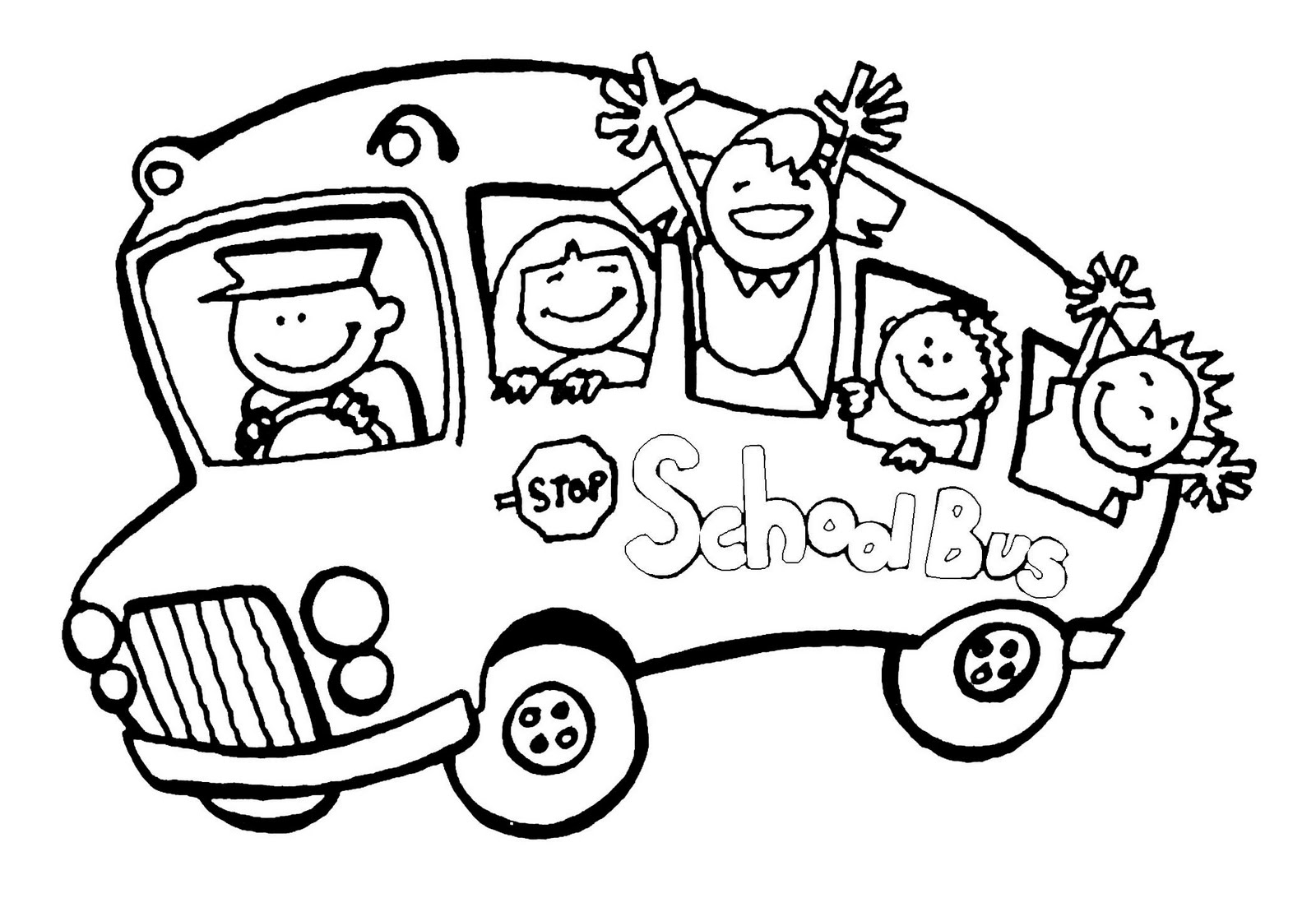 6 Images of Free Printable School Bus Coloring Pages