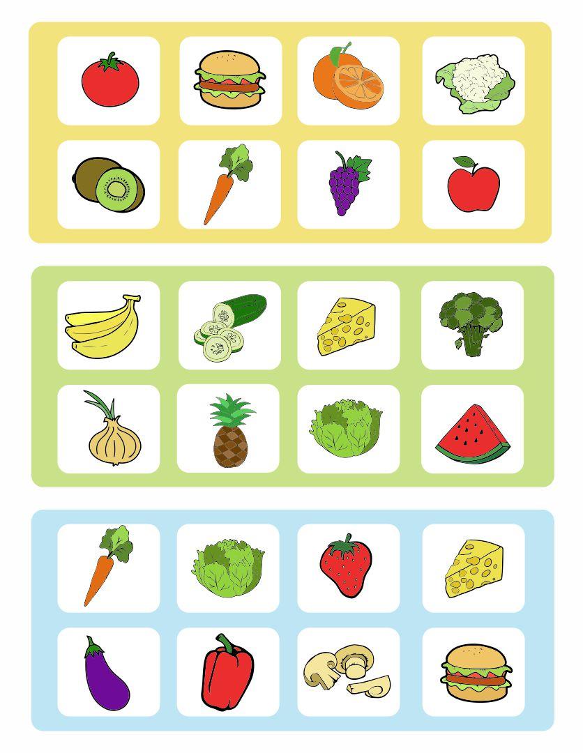 Printable Food Game Board