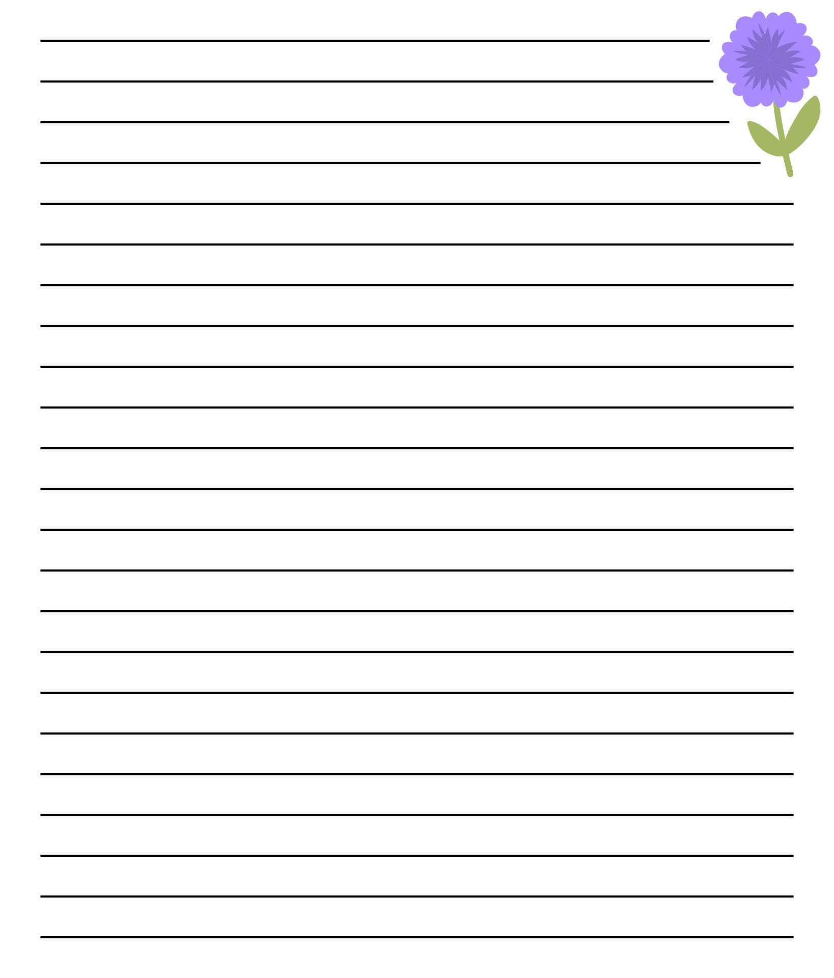 Border paper writing – Free Printable Lined Stationary