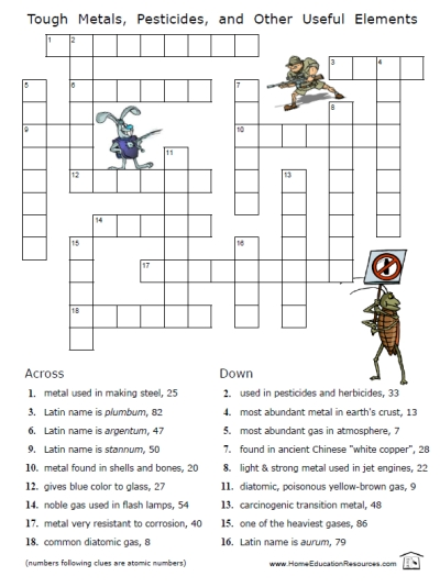 4 Images of Printable Crossword Puzzles Middle School