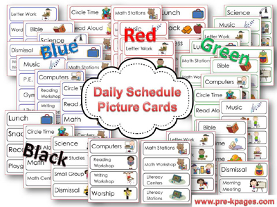 4 best images of preschool visual schedule printable for Kindergarten timetable template