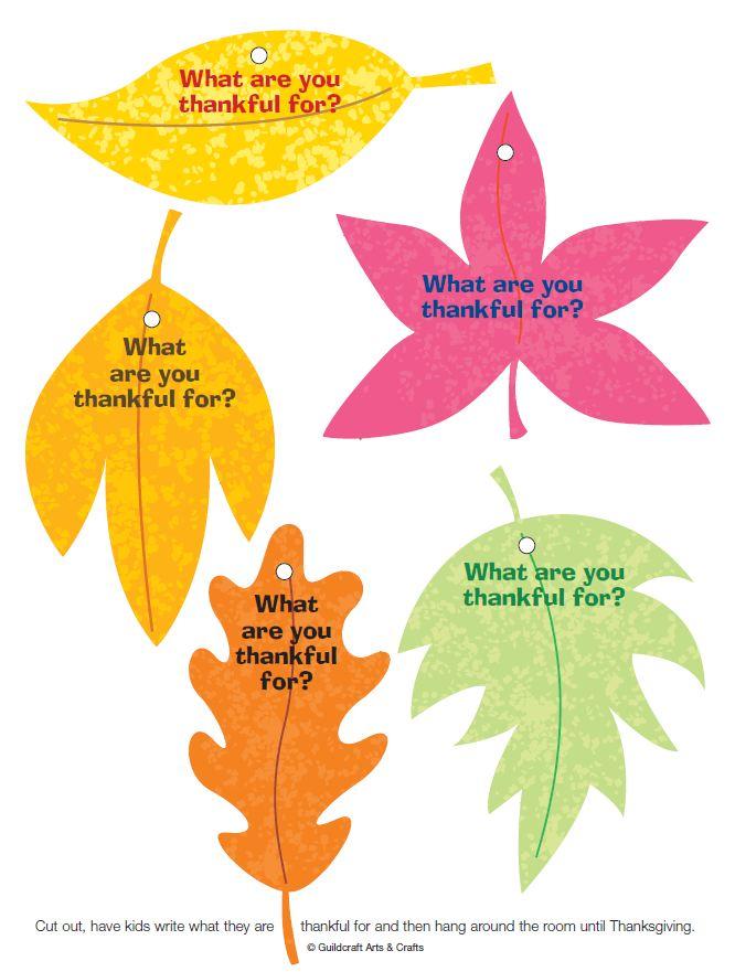 Printable Thankful Leaves
