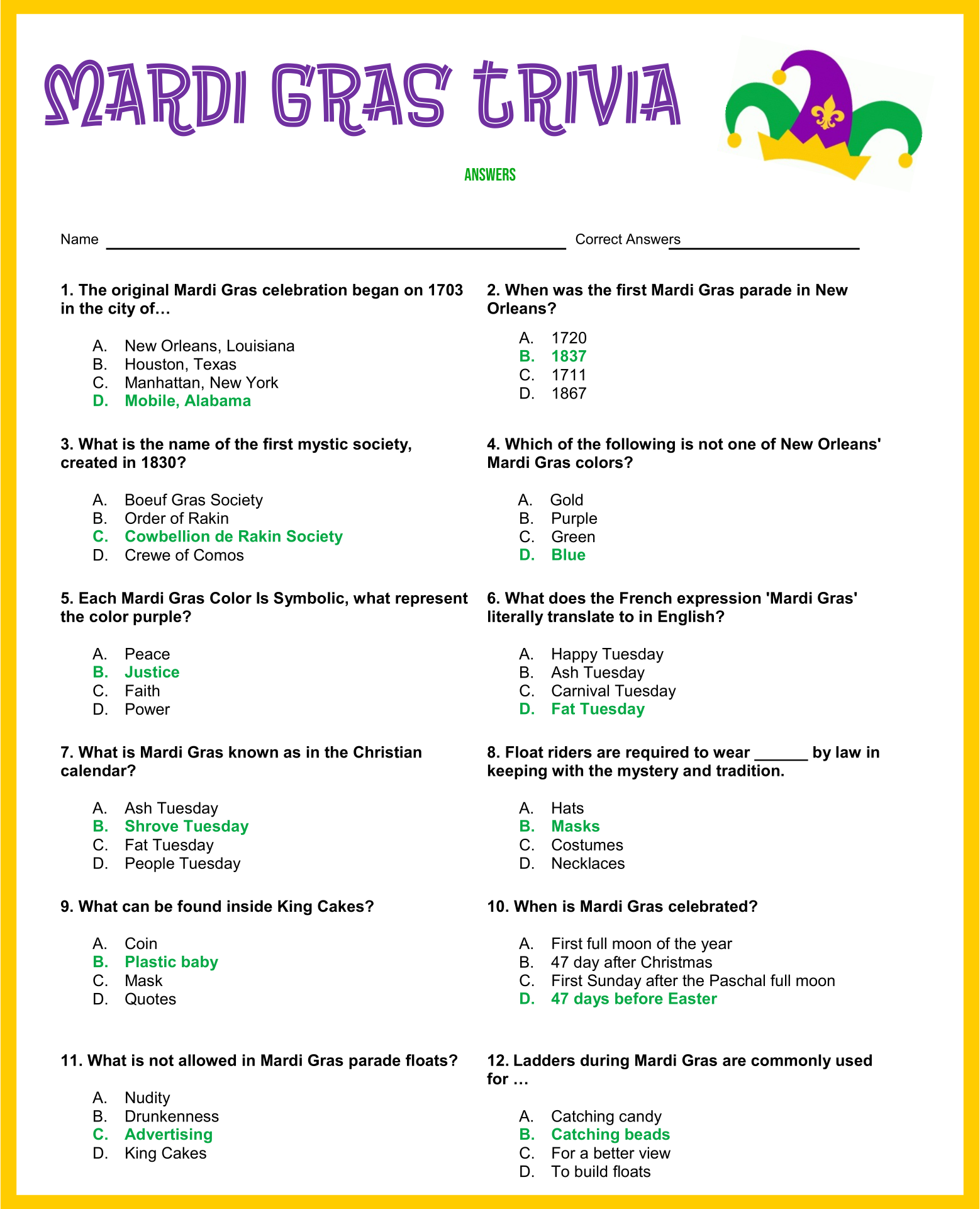 7 Images of Free Printable Trivia Questions And Answers