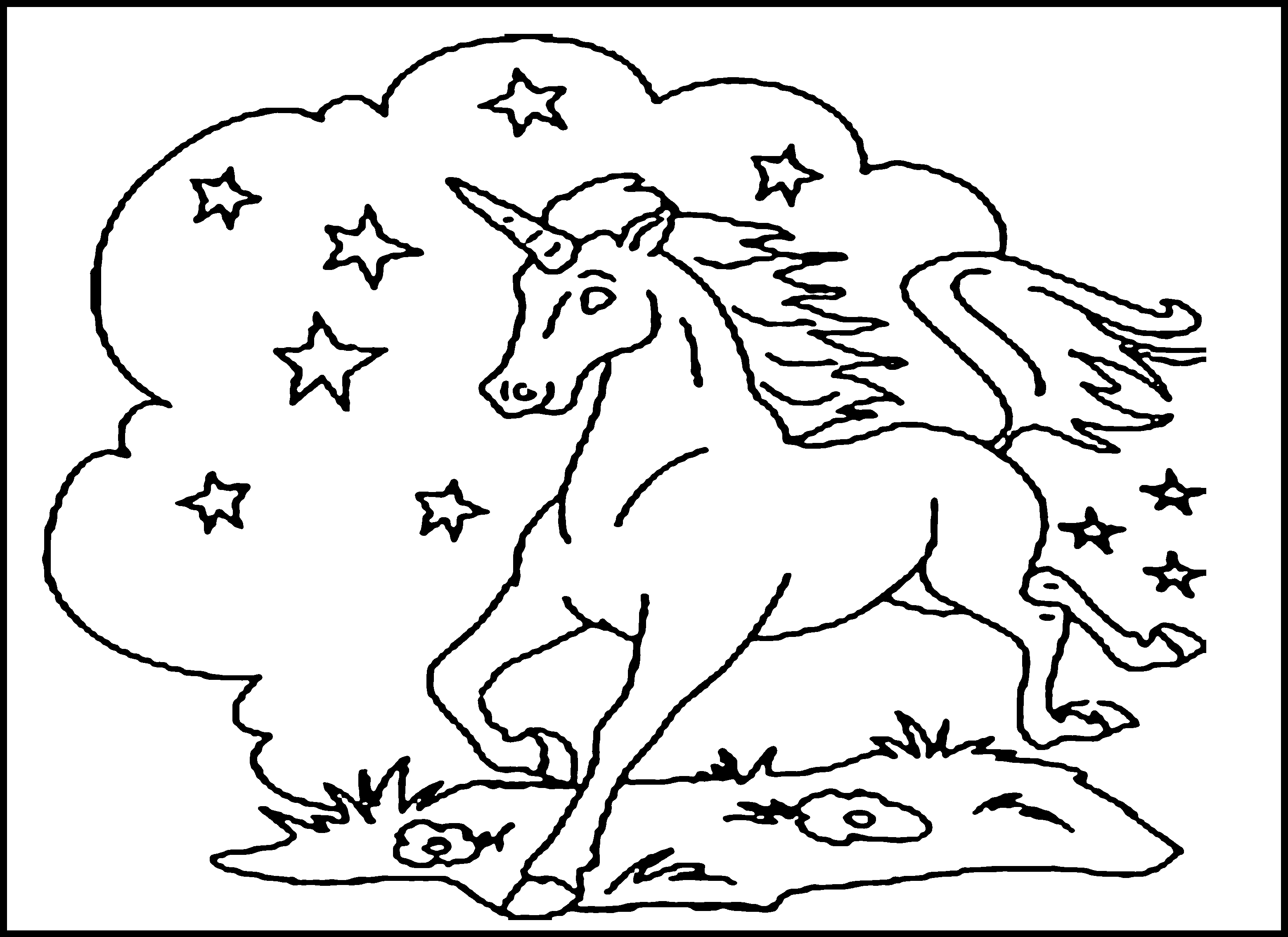 - 4 Best Images Of Kids Coloring Pages Printable - Printable Unicorn