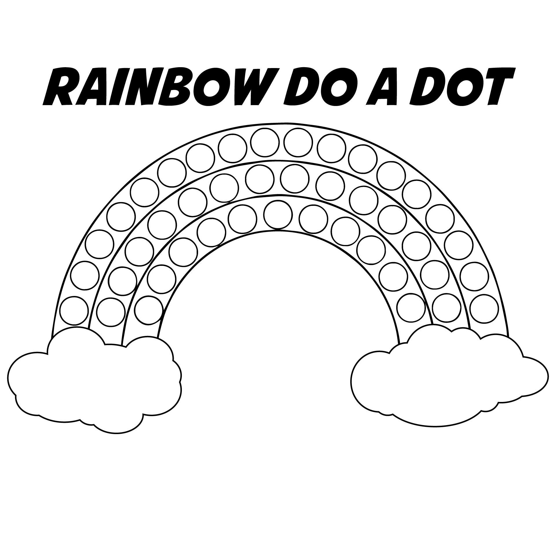 Rainbow Bingo Dot Printables Free