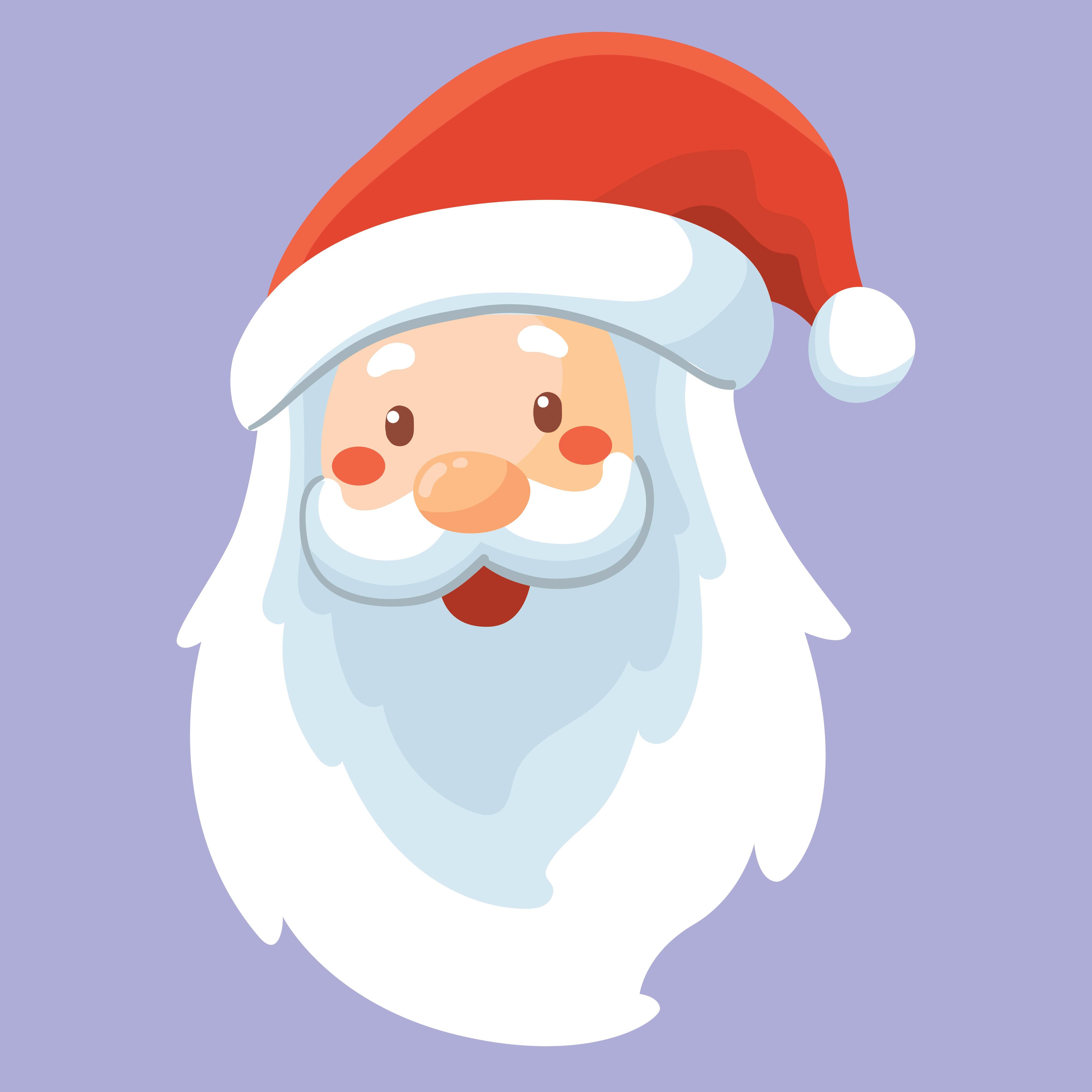 7 Best Santa Claus Face Template Printable - printablee.com