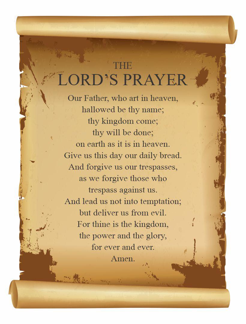 Scrolls the Lord Prayer Printable