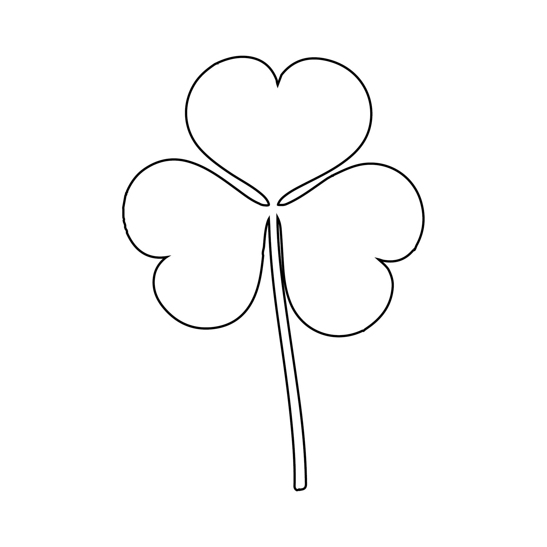 Shamrock Cut Out Template