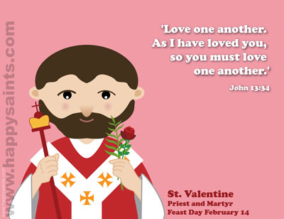 5 Images of Free Printable Saint Valentine Holy Card