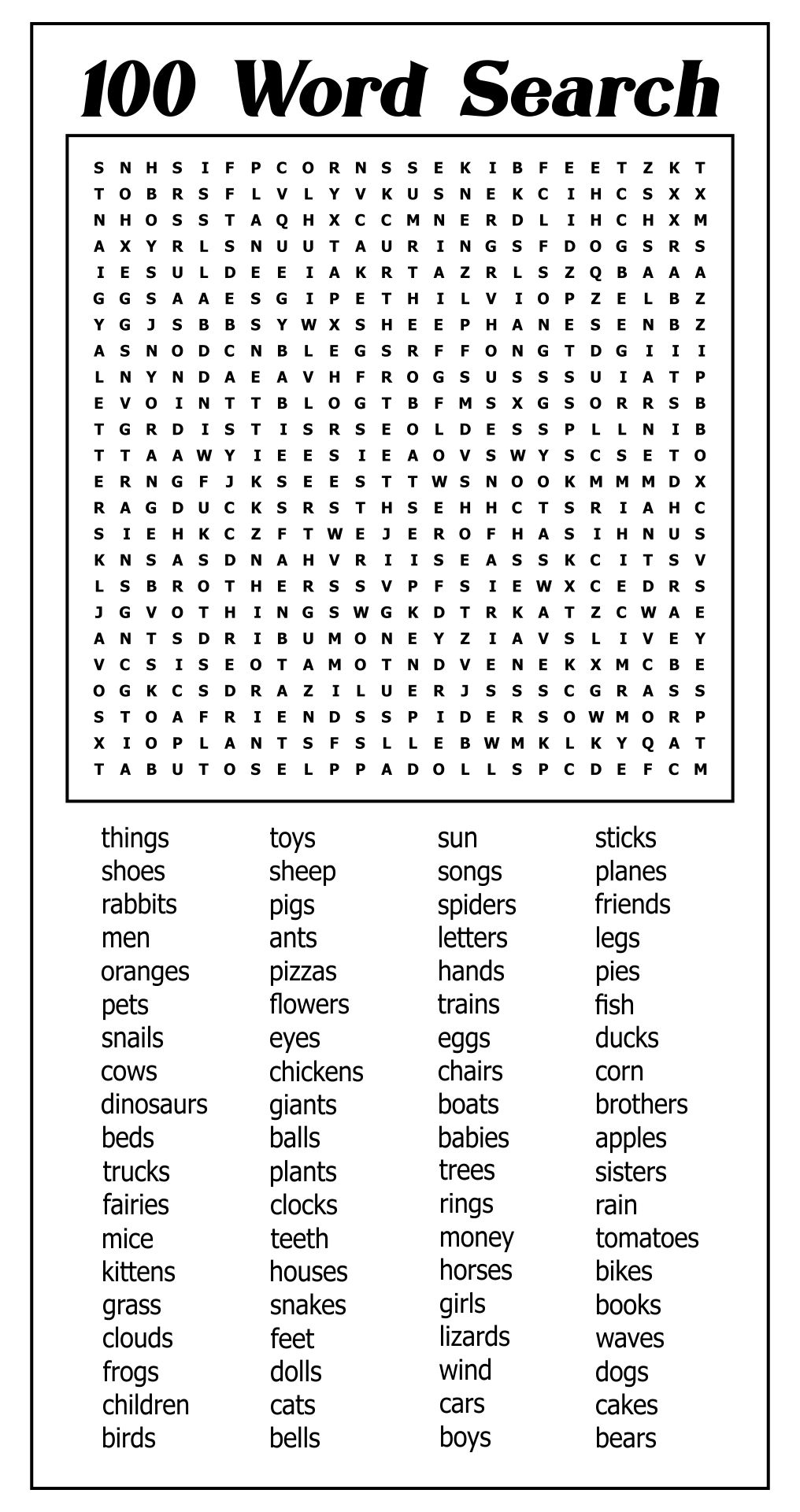 4 Images of Mega Word Searches Printable