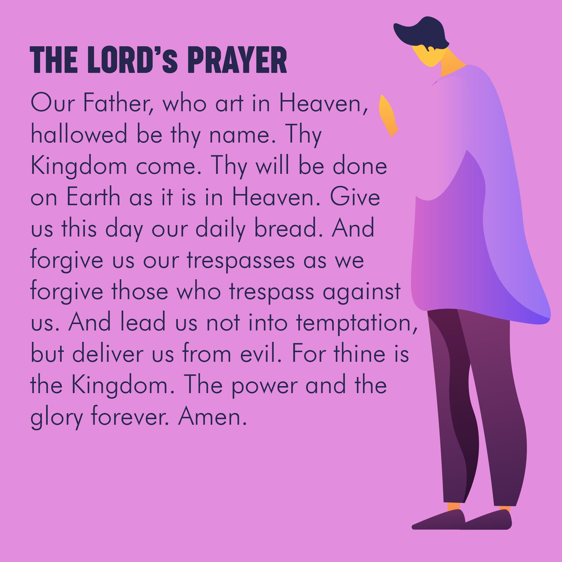 8 Best Images Of The Lord Prayer Printable Lord S Prayer