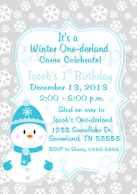 9 Images of Winter Wonderland Party Invitation Free Printable