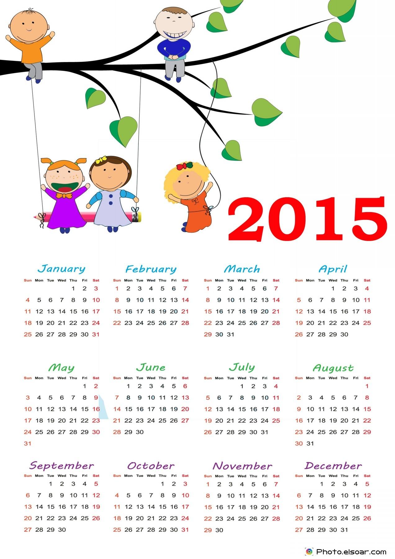 8 Images of Cute 2015 Printable Calendar