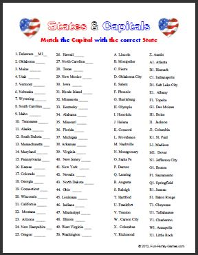 Printables States And Capitals Worksheets 50 state capitals worksheet intrepidpath 4 best images of printable states and worksheet