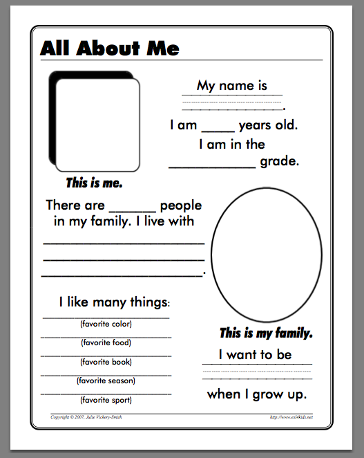 Worksheets Free Printable All About Me Worksheet 9 best images of about me worksheets printable all printables
