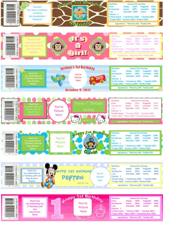 8 best images of gerber baby food printable label gerber for Baby food jar label template