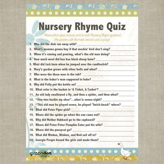 7 Best Images Of Vintage Nursery Rhyme Shower Games