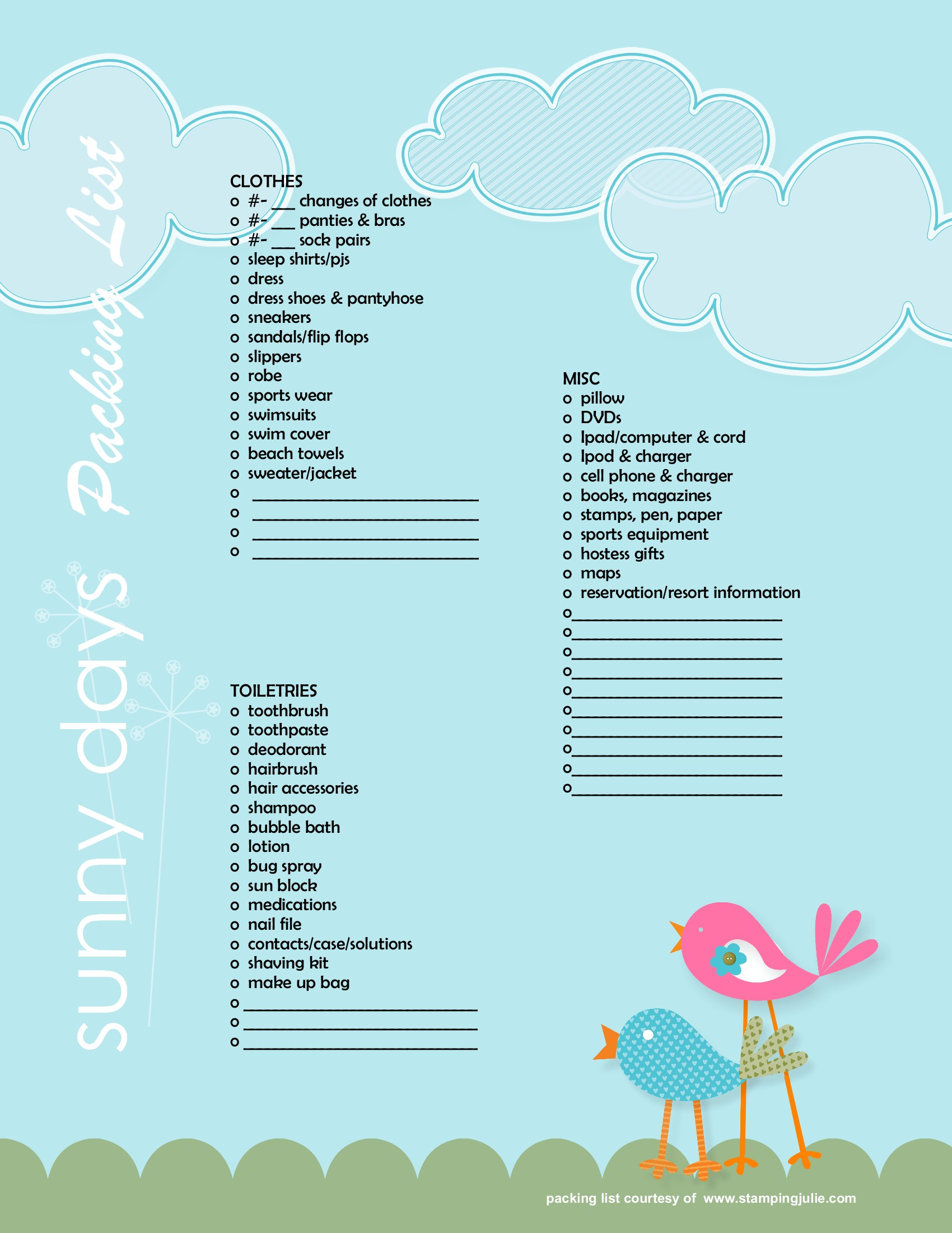 8 Images of Printable Beach Vacation Packing List