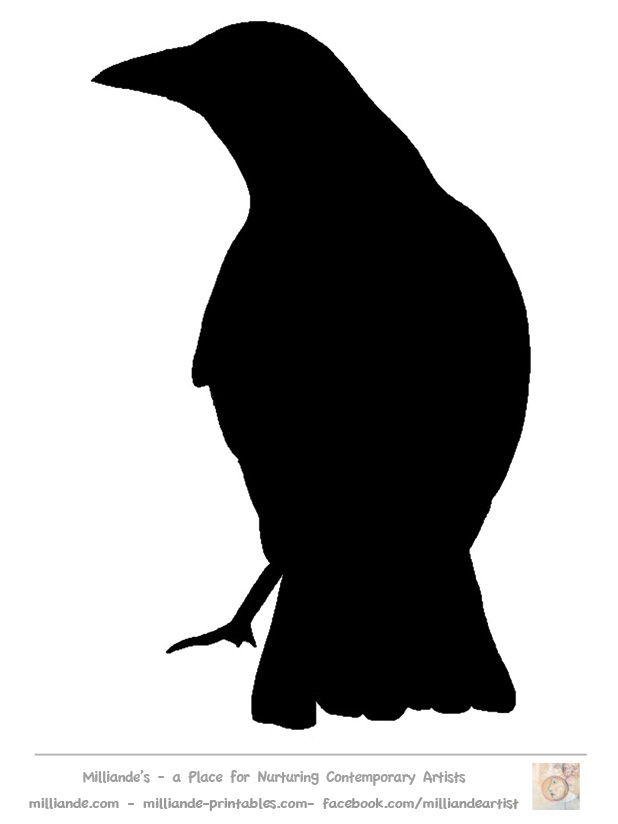 8 Images of Free Printable Crow Silhouettes