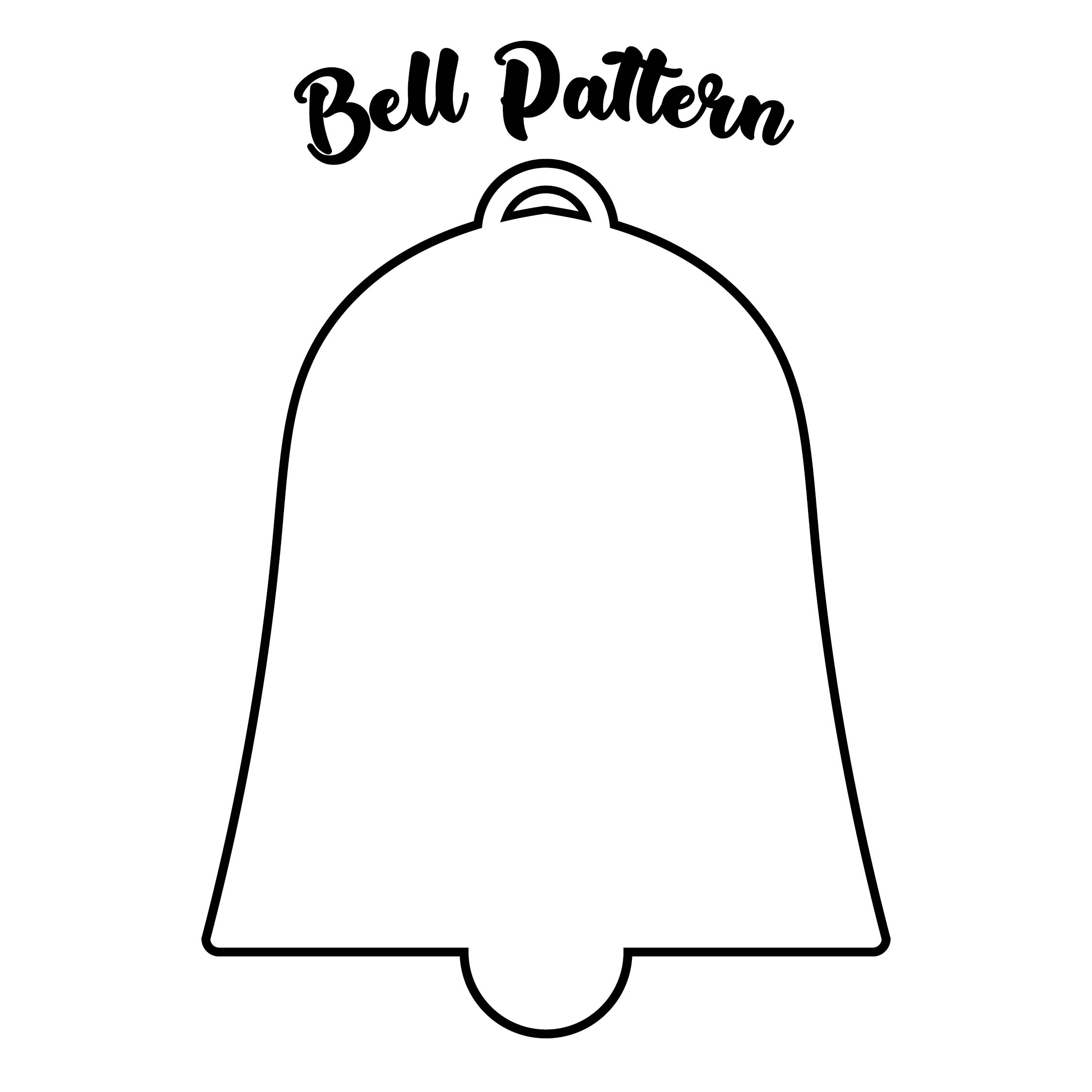 4 Images of Christmas Bell Template Printable