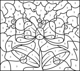 math worksheet : 9 best images of christmas addition color by number printable  : Multiplication Christmas Worksheets