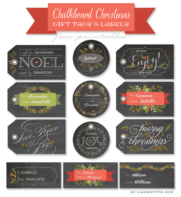 8 Images of Printable Christmas Gift Food Labels