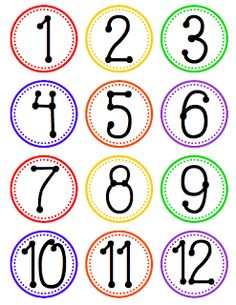 8 Images of Free Printable Number Labels