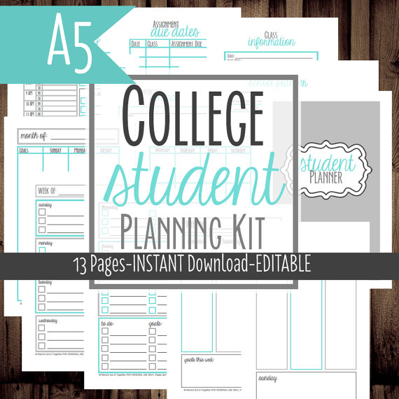 Free Printable High School Student Planners Student