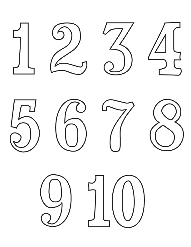 5 Images of Numbers 1 10 Template Printable