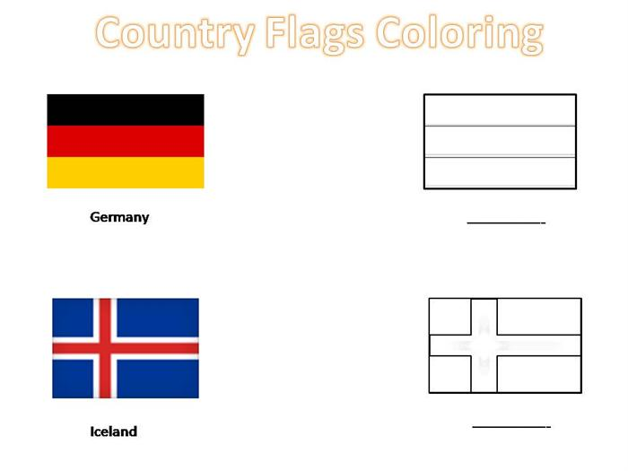 6 Images of Printable Country Flags Coloring Pages