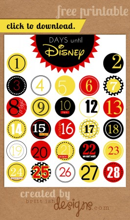 8 Images of Disney World Countdown Printable Poster