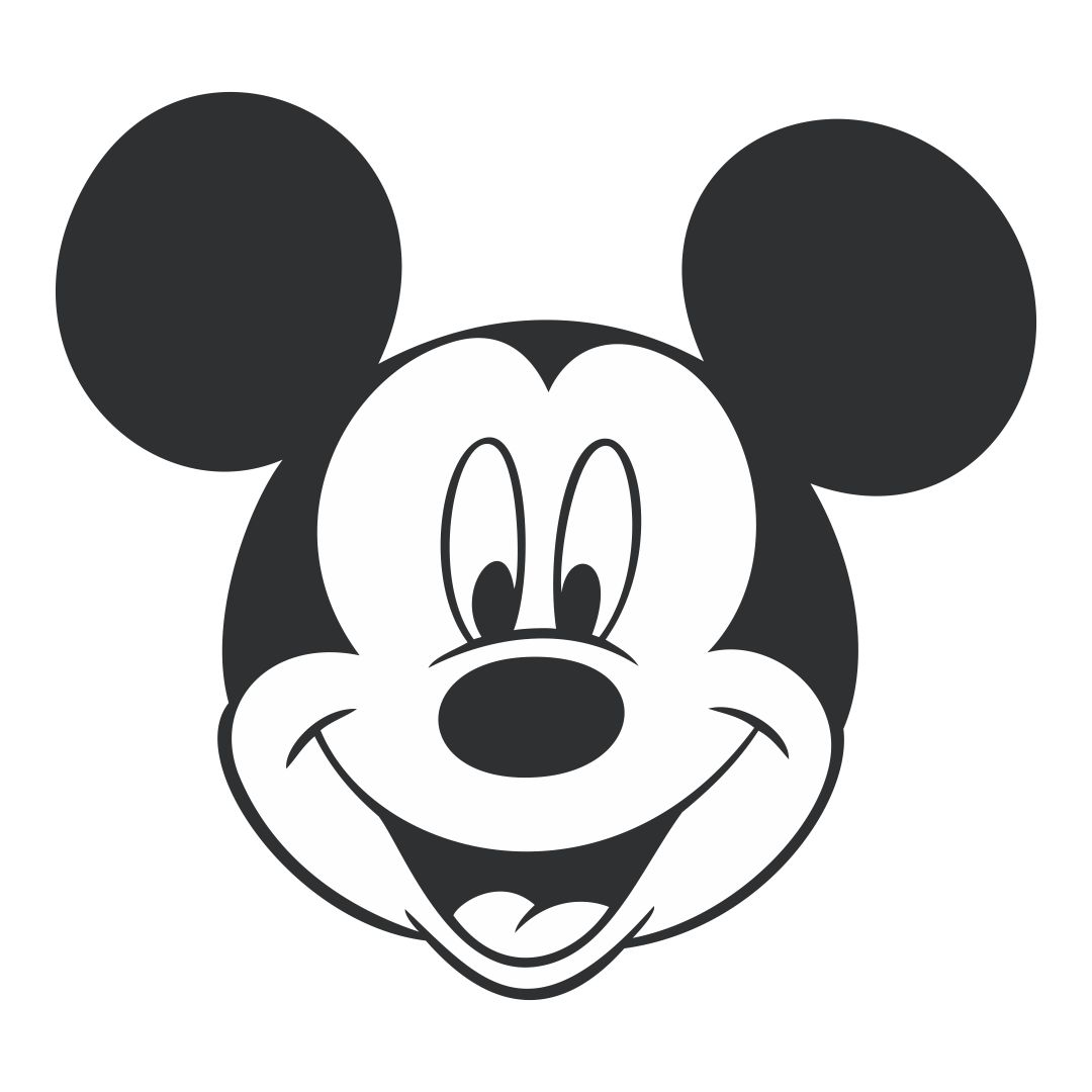 Disney Mickey Mouse Head Template